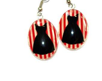 oval earrings rockabilly dress