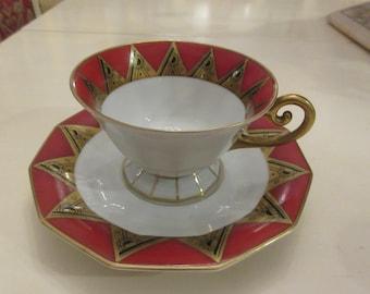 GERMANY BAENSCH LETTIN Teacup and Saucer Set
