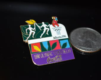 Vintage Coca Cola Atlanta Olympic Torch Relay 1996 Lapel Pin