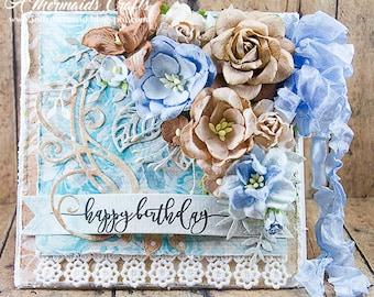 Shabby Chic Happy Birthday Greeting Card