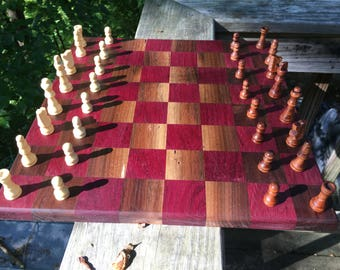 Wood Chess Pieces, Chessboard, Wood Chess, Wood Pieces, Wood Chessboard, Chessboard, Chess, Wood, Natural,