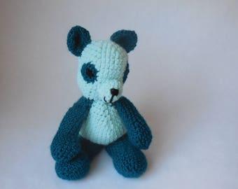 Crochet Panda Teal