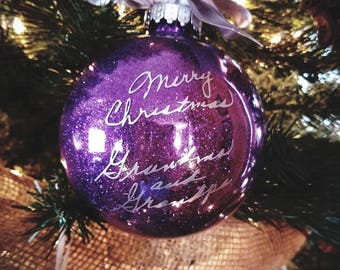 In Memory Ornament - Keepsake Signature Ornament - Made To Order Ornament