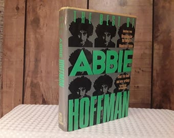 Best Of ABBIE HOFFMAN Hardcover Book 1989, Steal This Book and New Writings, Woodstock Nation, Revolution For The Hell Of It