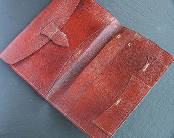 Vintage Tan Brown Leather Wallet Made in England, 1960/70's, 20% Price reduction
