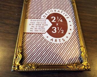 Gold Plated Frame, Vintage Frame, Frame, Victorian Decor, Gold Frame, Home Decor, Metal Frame, Gift for Her, Antique Frame, Small Frame