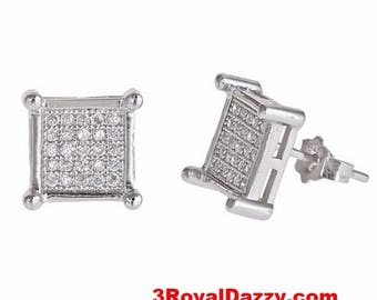 Cubic Zirconia Sterling Silver Stud