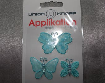 Butterfly, assorted, iron or sew applique