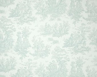 Summer SALE fabric yardage  designer fabric Premier Prints Jamestown Toile Snowy blue White Premier Prints Fabric