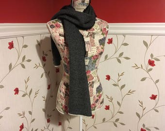 Two Tone Tweed Scarf- Mens scarf - Womans - 100% wool - Soft - Unisex scarf