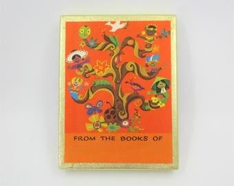 Antioch Bookplate Co. - Box of 39 bookplates - Children's Bookplates - Great Mod Graphics