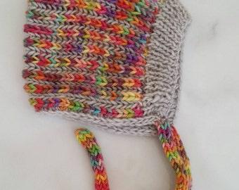 Hand knit pixie hat