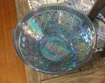 Vintage Windsor Carnival Blue Bowl