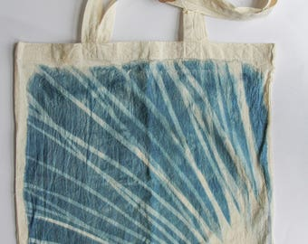 "Tote bag ""Abstract"" in cyanotype"