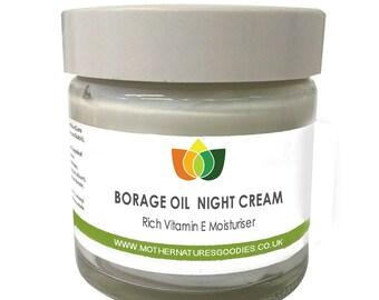 Borage Oil Cream with Aloe Vera Rich Vitamin E Moisturiser Aromatherapy Multiple Sizes.