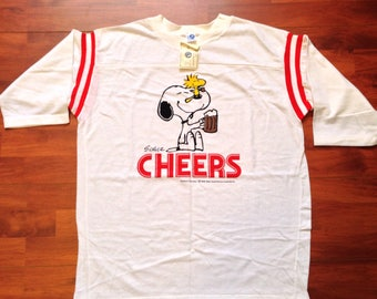 Cheers! Snoopy And Woodstock Deadstock 80's Artex Jersey Tee - Artex XL 100% Cotton