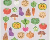 Vegetable Stickers - Japanese Food Stickers - Washi Paper Stickers - Reference A6298-300