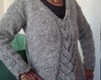 women's hand knitted Wool Sweater