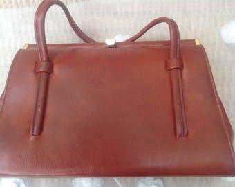 Vintage 1960's Oxblood Coloured Mod Handbag