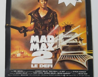 Mad Max 2, The Road Warrior Original Vintage Movie Poster, Window Card, French