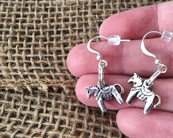 Swedish Dala Horse Earrings, Silver, Bronze, Dala, Sweden, Swedish, Tradition, Sverige, Svenska, Horse, TheSwedishFlicka
