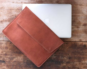 macbook pro case leather, brown leather macbook cover, macbook air leather sleeve, leather sleeve