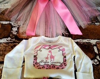 Tutu set You choose.  Tutu hairbow shirt onesie Newborn tutus