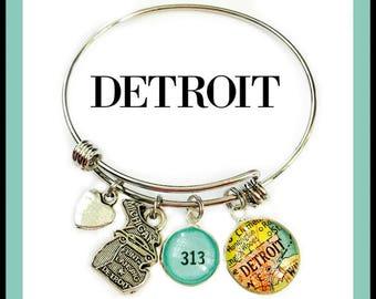 Detroit Charm Bracelet