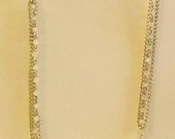 Gold Tone Multi Chain Pearl Necklace
