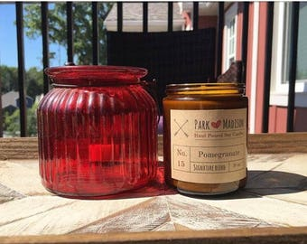 Pomegranate Soy Candle, Soy Candle, Soy Candles Handmade, Gifts for her, fruit candles