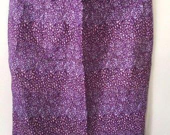 Wax ethnic straight skirt
