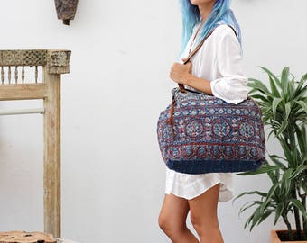 Vintage Quilt Shoulder Bag, Boho Bag, Ethnic Tribal Bohemian Gypsy Women Bag Fabric HandBag Tote Bag