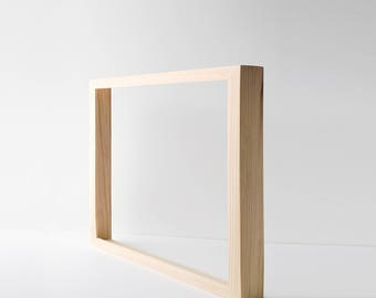 Custom Canvas Frame - Wood Frame for Canvas Painting or Canvas Print. Custom Depth. Fits Irregular Canvas.