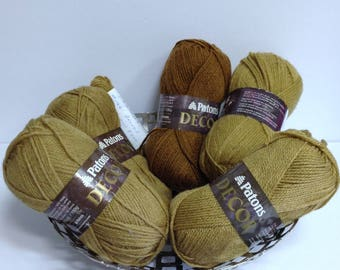 Patons Bronze Decor Yarn, Vintage Patons Yarn Destash Wool Blend Yarn for Knitting or Discontinued Patons Yarn Projects Various Lot #s