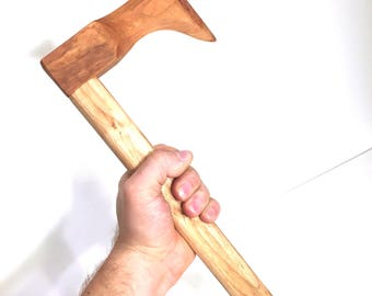 Wooden Toy Hatchet | Made by Hand Toy Wooden Tomahawk | Wood Toy Axe | Black Cherry and Maple Wood Toy Hatchets