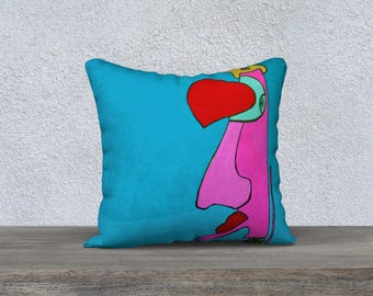 Soft cushion - Pillow Case Soft - YOGA Man Original