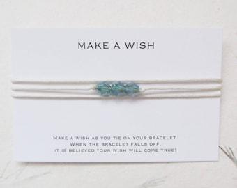 Wish bracelet, make a wish bracelet, friendship bracelet, W62