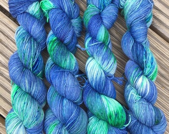 Hand Dyed Blue Faced Leicester 4 ply Yarn