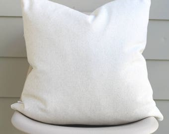 "22"" x 22"" White Throw Pillow Cover - Soft Designer Fabric, COVER ONLY"