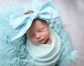 PISTACHIO Gorgeous Wrap- headwrap; fabric head wrap; head wrap; boho; newborn headband; baby headband; toddler headband; bow