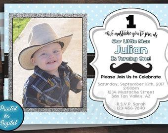 Mustache Invitation, Mustache Birthday Invitation