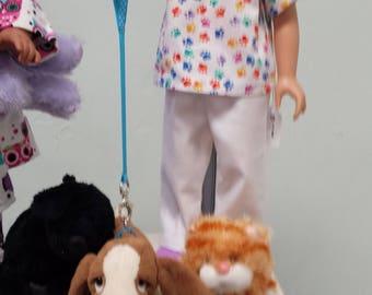 Cat Vet Costume for 18 inch dolls