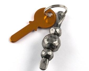 Forged iron keychain - balls - iron metal gift