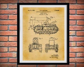 1925 Caterpillar Crawler Tractor Patent Print - Agriculture Poster - Tractor - Farming - Farm Equipment Patent - Farmhouse Decor -