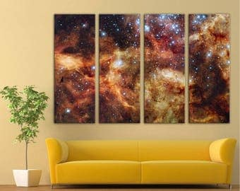 Star-forming region in the Large Magellanic Cloud 2 wall art multi panel triptych aluminium digital print, universe, galaxy, wall art print
