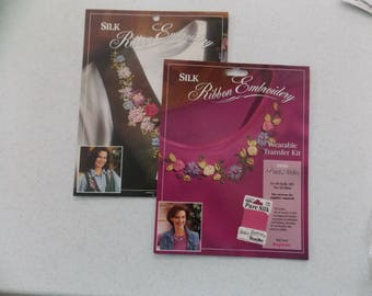 Wearable Transfer Kits for Silk Ribbon Embroidery