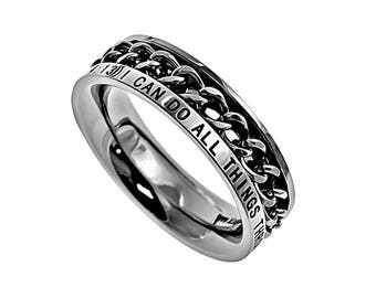 "Chain Ring ""Christ My Strength"""