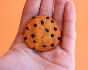 Cookie chocolate chips Magnet Smiley Kawaii Happy