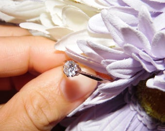 Sterling Silver 925 Cubic Zirconia Ring Silver Jewelry Size 9