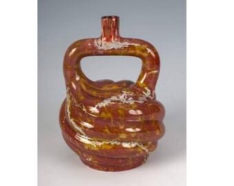 Zsolnay Eosin Vase, Zsolnay Twisted Vase, Round Stamped Zsolnay